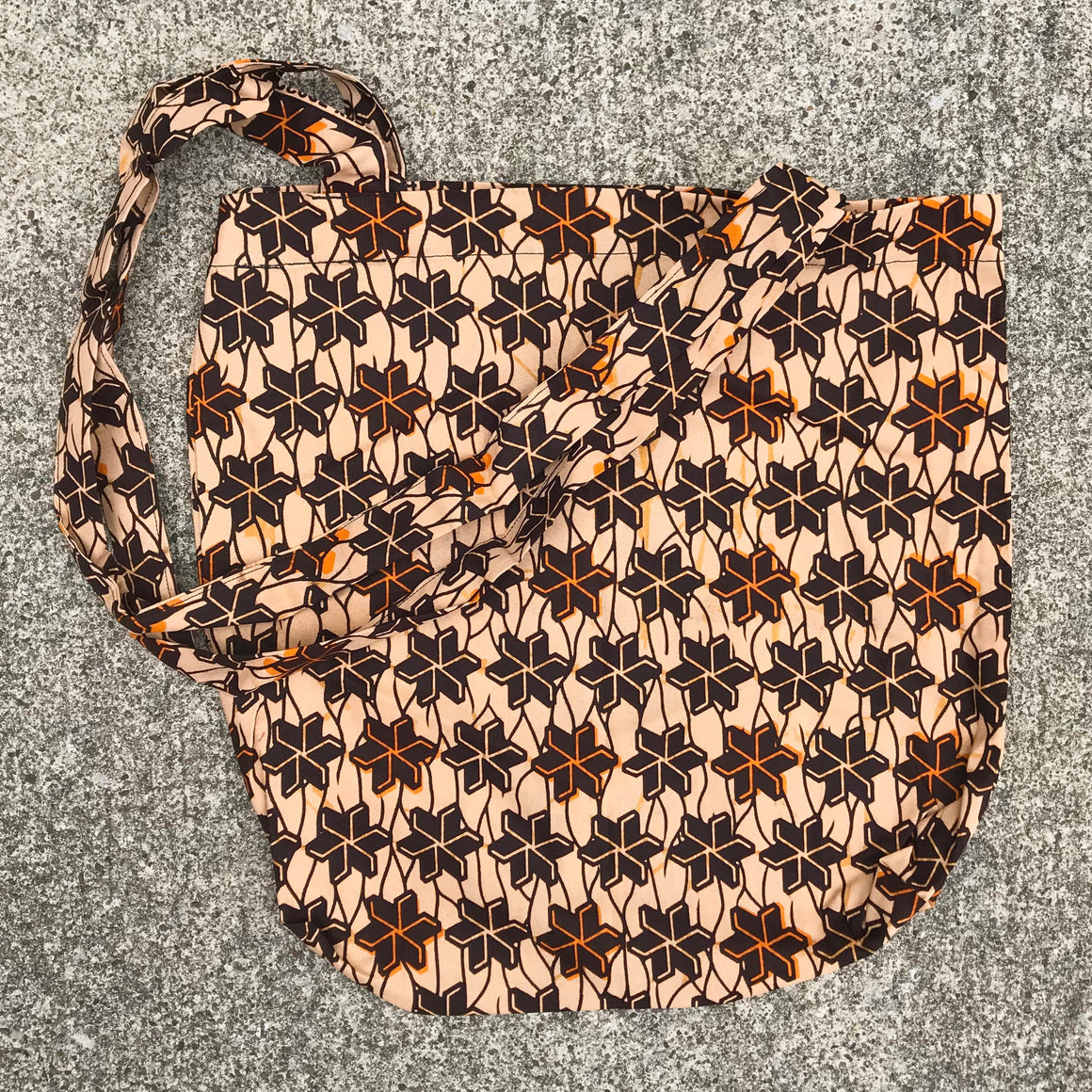 Tan Kitenge Shoulder Bag