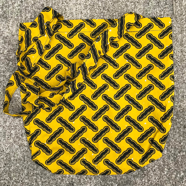 Yellow Kitenge Shoulder Bag
