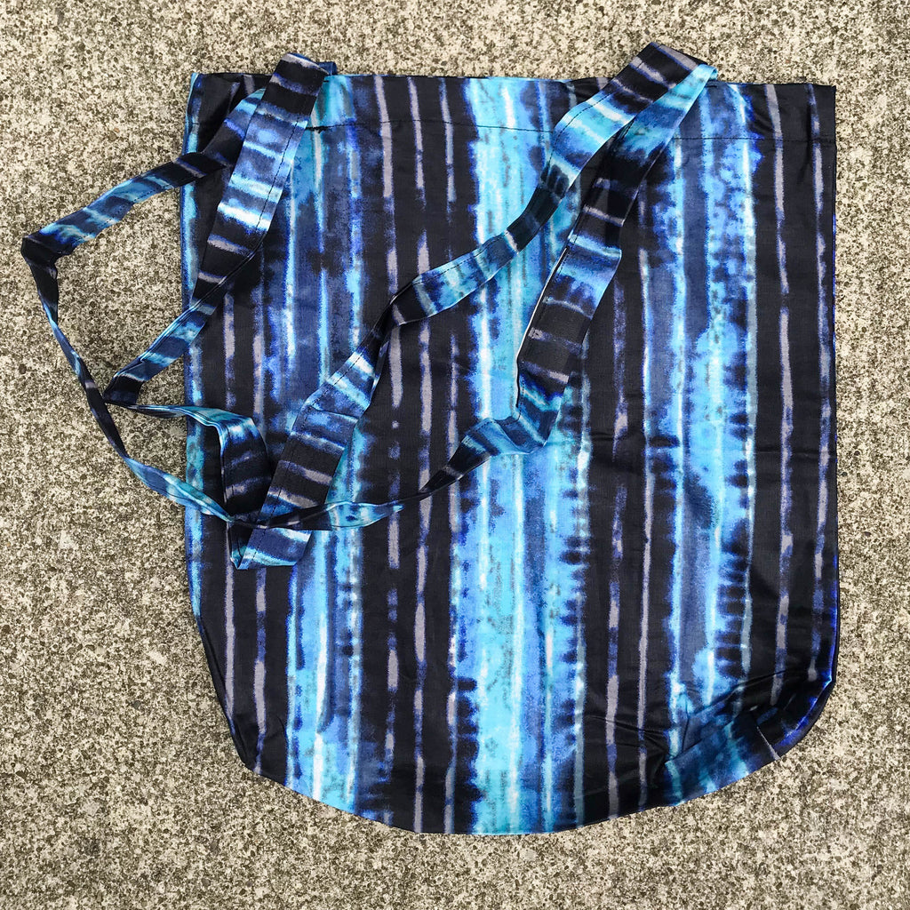 Blue Tie Dye Kitenge Shoulder Bag