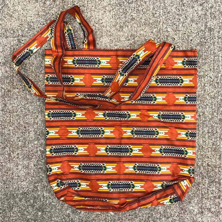 Orange Kitenge Shoulder Bag