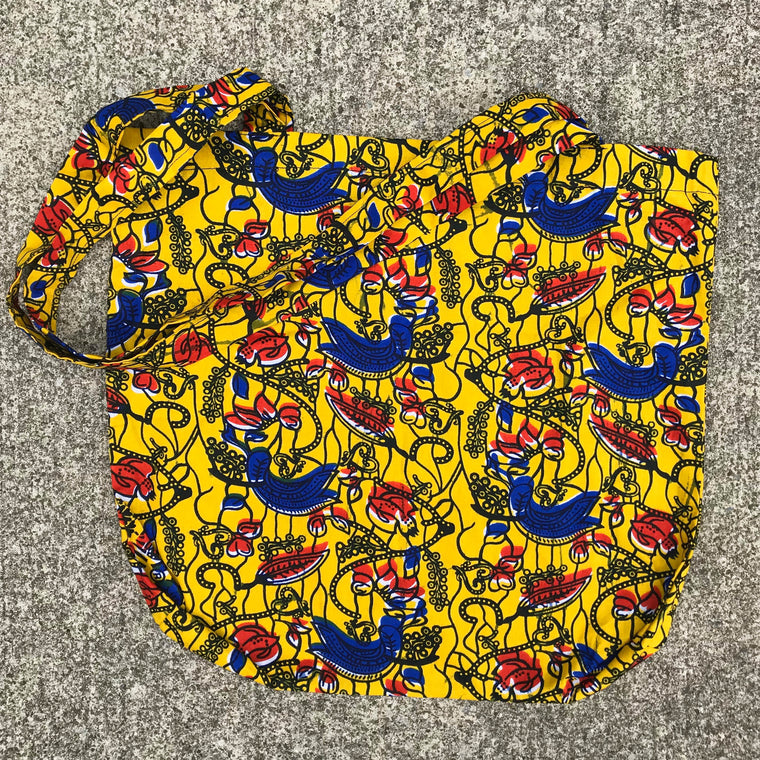 Yellow, Red, and Blue Kitenge Shoulder Bag
