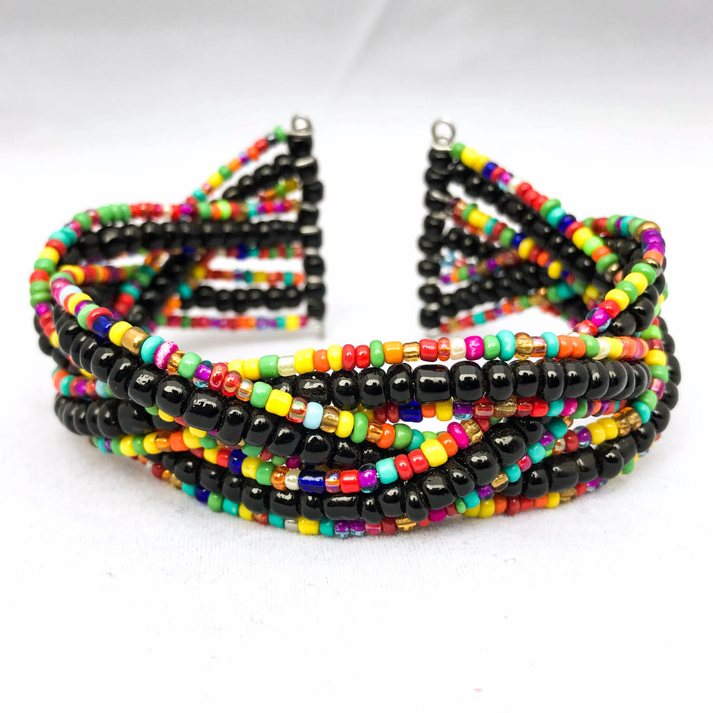 Black and Multicolor Twist Bracelet