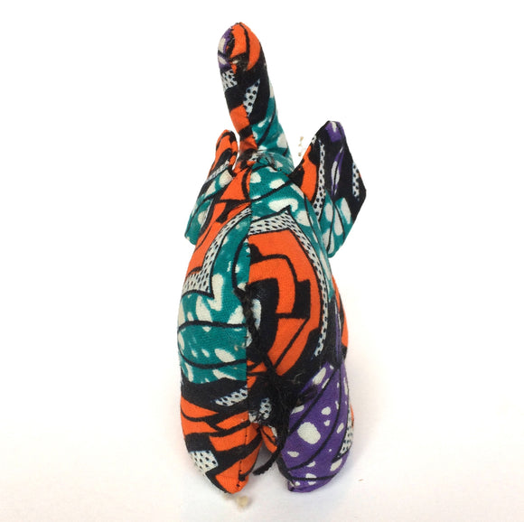 Purple, Orange, Green Kitenge Elephant