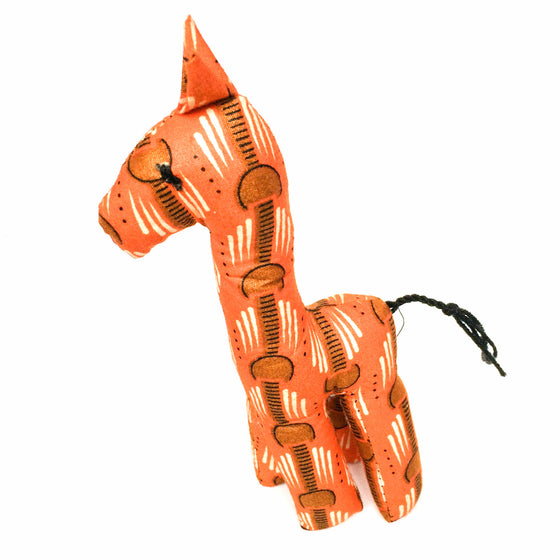 Orange Kitenge Giraffe