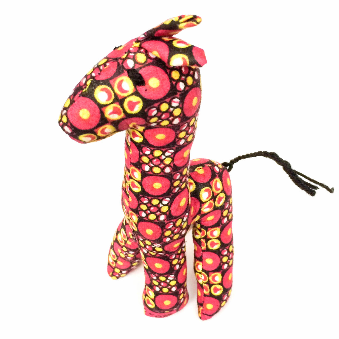 Pink and Yellow Kitenge Giraffe