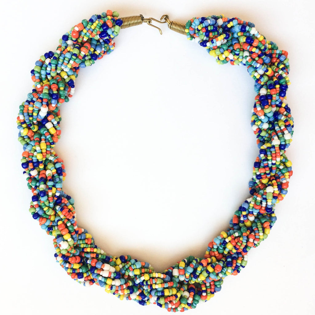 Multicolor Twist Necklace