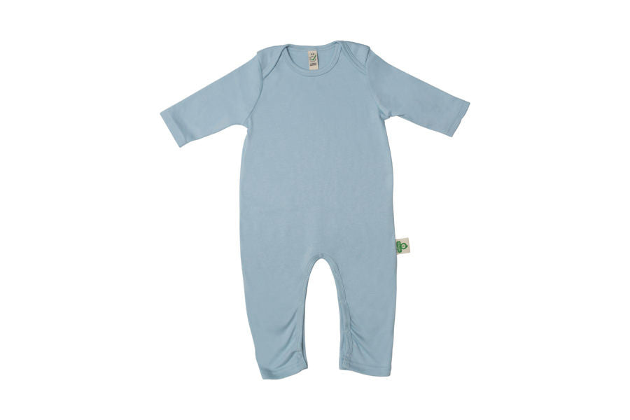 100% Organic GOTS Cotton Baby Long Sleeve Jumpsuit Onsie