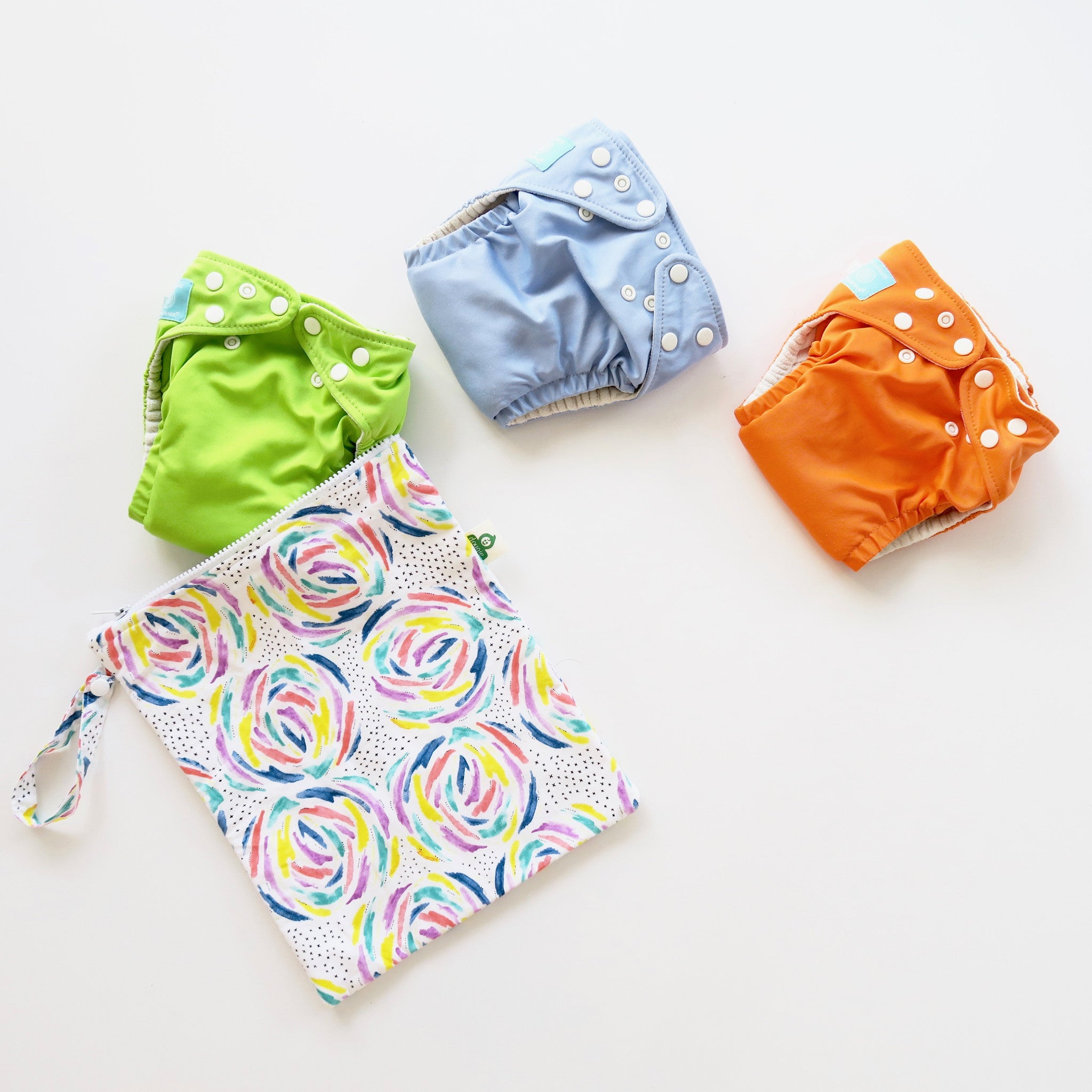 Organic Cotton Bamboo Lined Nappy Wet Bag