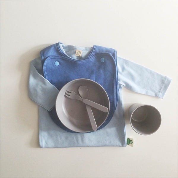 100% Organic Cotton Double Bib