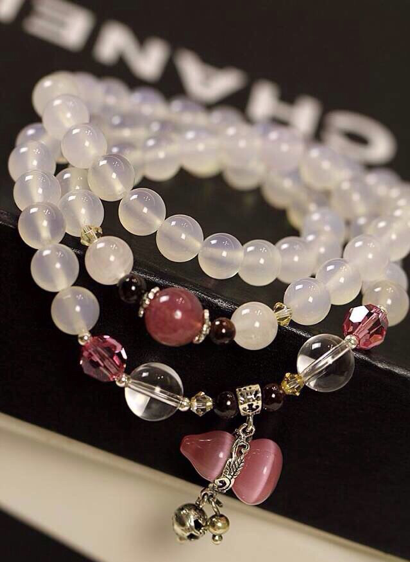 Chalcedony Bracelet (Necklace)
