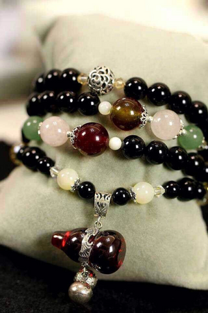 Black Agate Bracelet (Necklace)