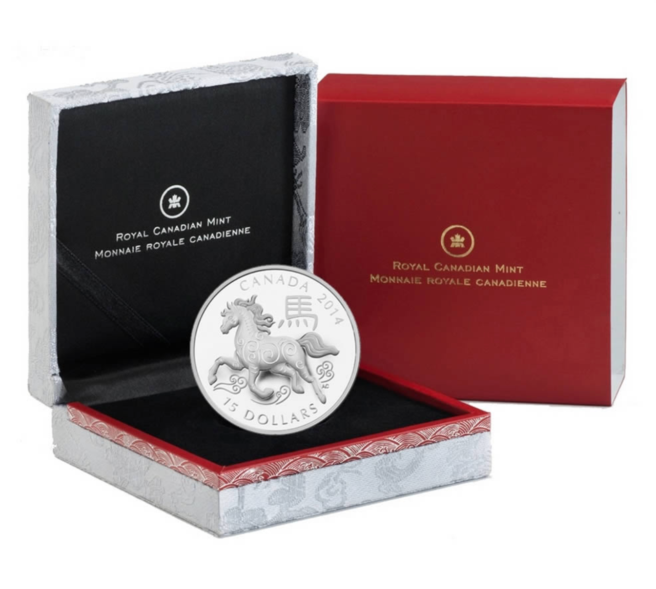 2014 $15 Year of the Horse - Pure Silver Coin