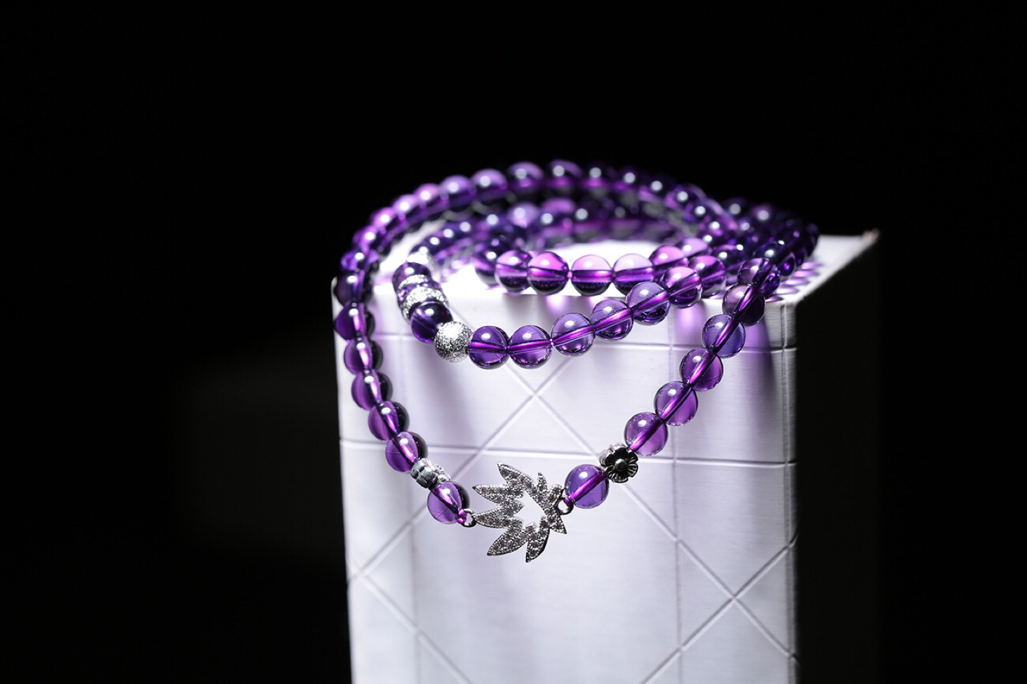 Purple Crystal Bracelet