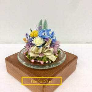 Elegant Preserved Flower with Glass Containers