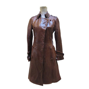 Un Solo Mondo Woman's Long Leather Jacket