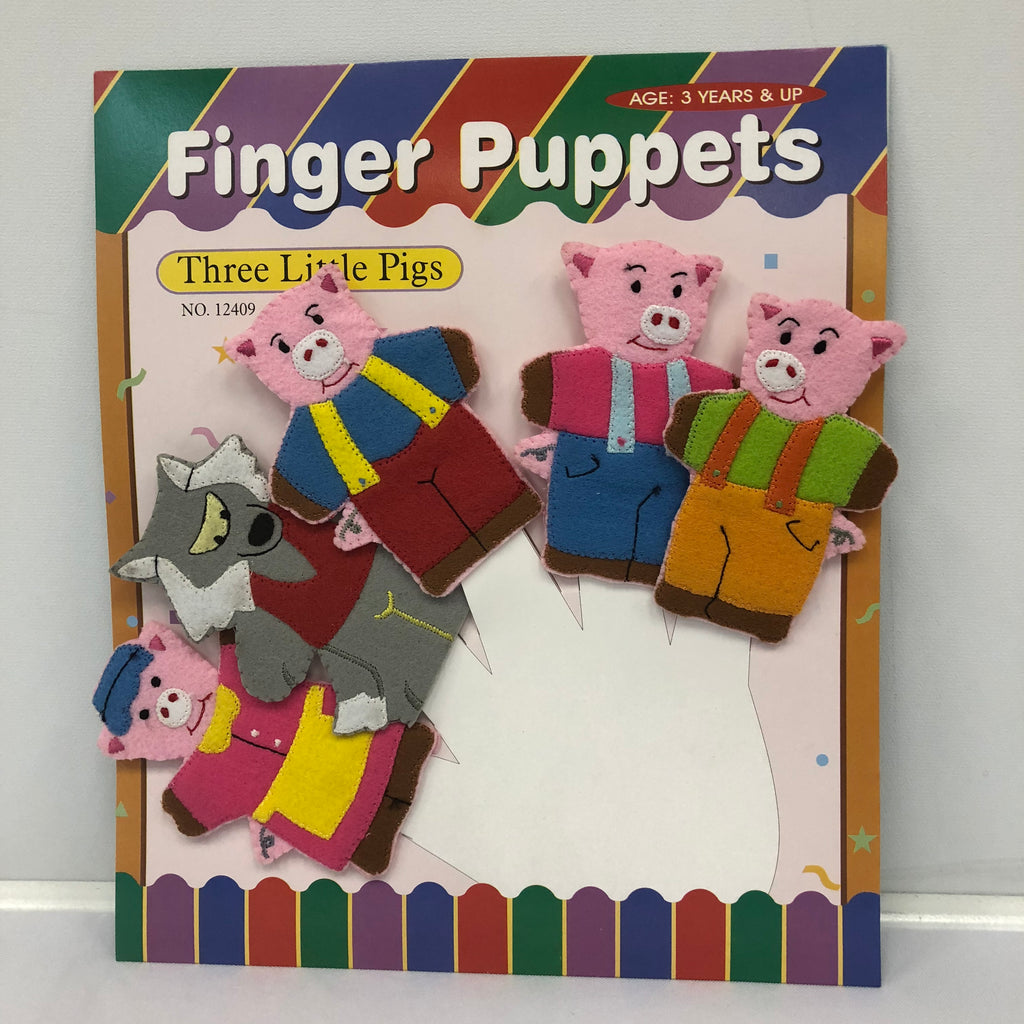 Three Little Pig Finger Puppets