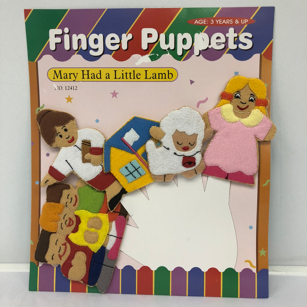Mary Had a Little Lamb Finger Puppets