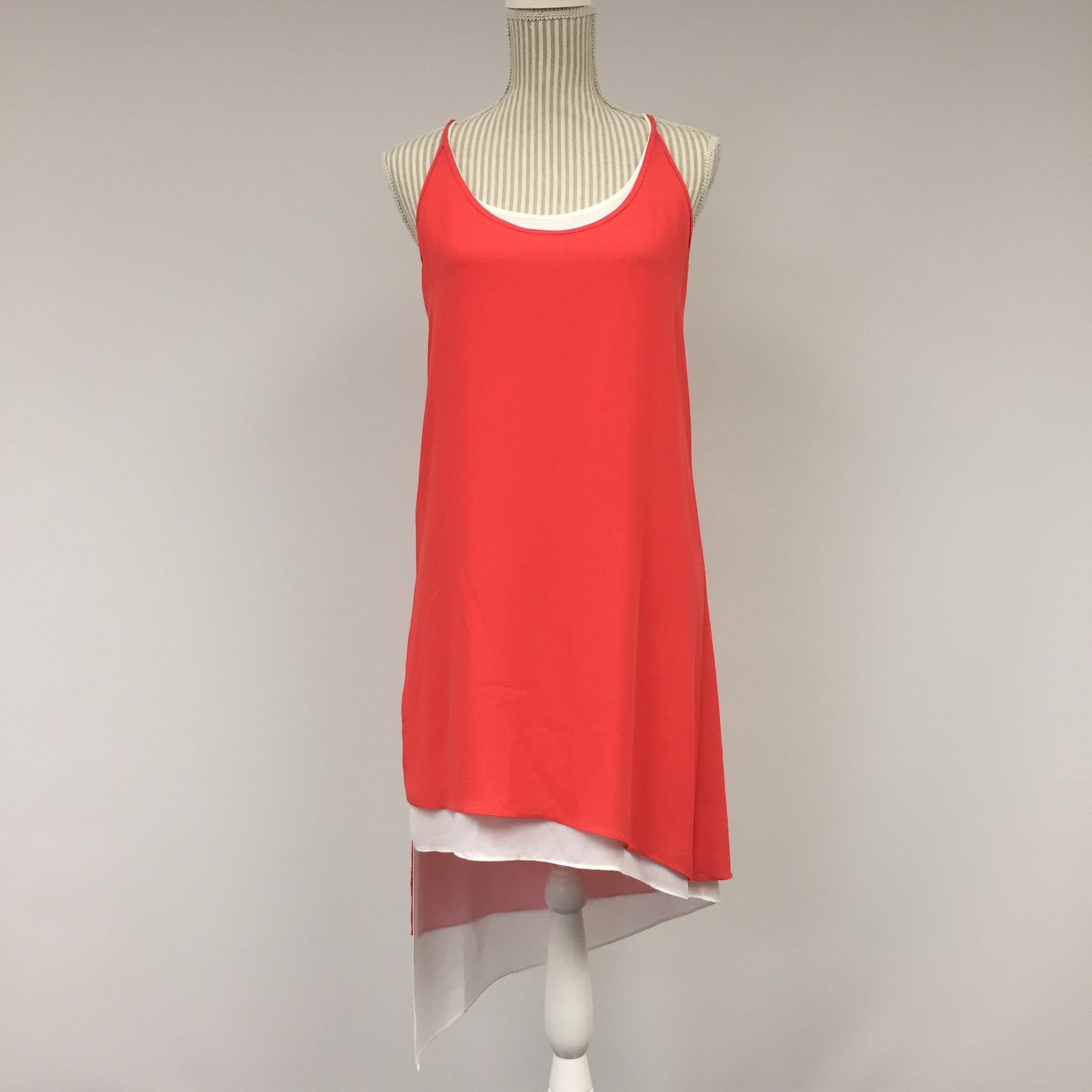 BCBG Red Sleeveless Layered Party Dress