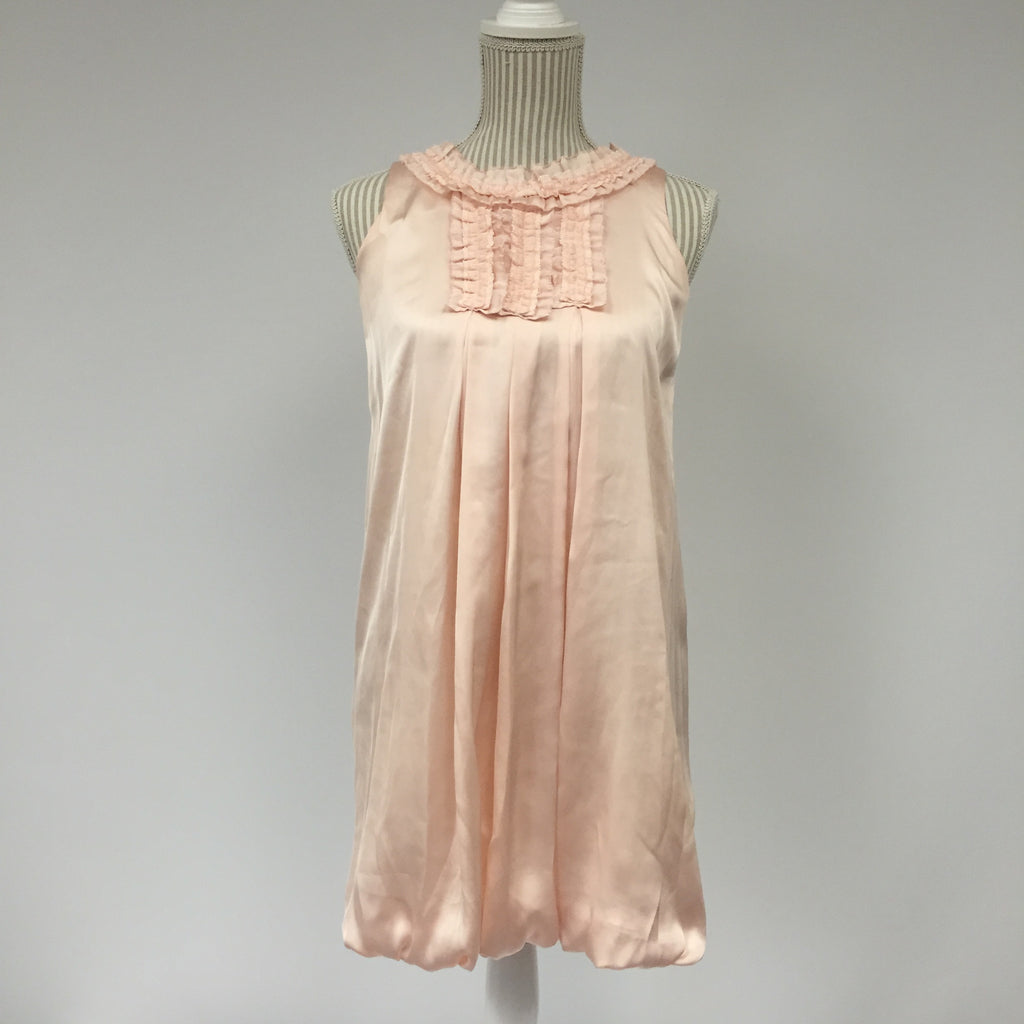 Kingkow Pink Ruffle Summer Dress