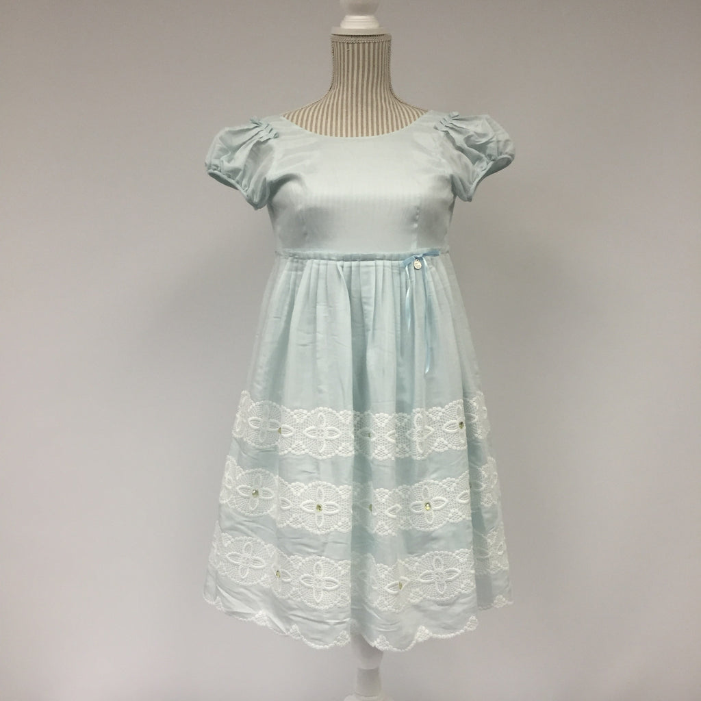 Kingkow Baby Blue Lace Dress