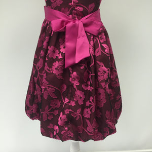 Bonnie Jean Pink Floral Christmas Dress