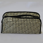 Naraya Houndstooth Pattern Cosmetic Bag