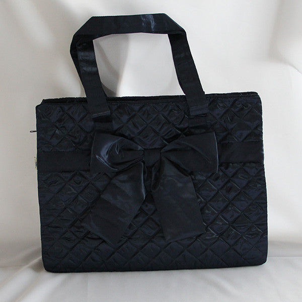 Naraya Large Checkered Ribbon Bag