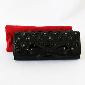 Valentino Leather Evening Bag - Black Colour