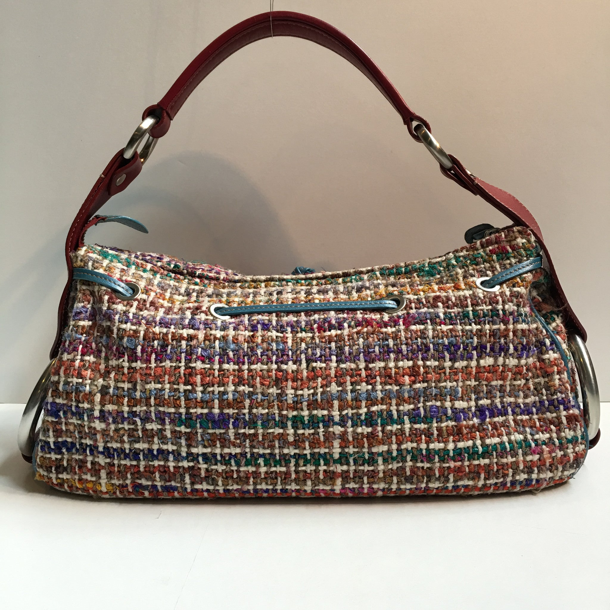 Hogan Multicolored Boucle Leather Single Strap Shoulder Handbag