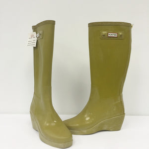 Hunter Boots with Heel (Olive Green)