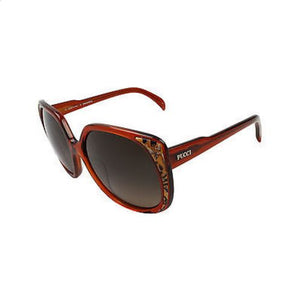 Emilio Pucci Women's EP690S Red Frame/Brown Lens Oval 58mm Sunglasses