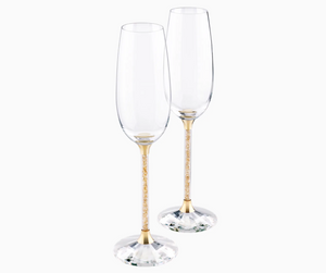 SWAROVSKI Crystalline Toasting Flutes, Gold Tone (Set of 2)