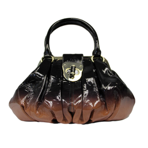 Alexander McQueen Elvie Leather Patent Bag