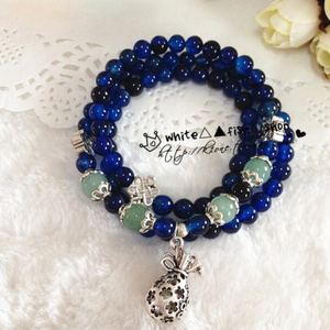 Blue-Agate Bracelet (Necklace)