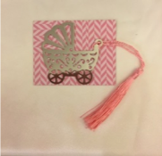 Baby Girl Stroller Bookmark
