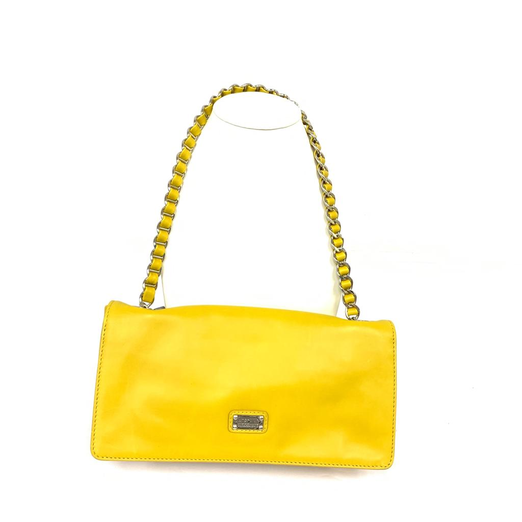Moschino Mustard Yellow Clutch