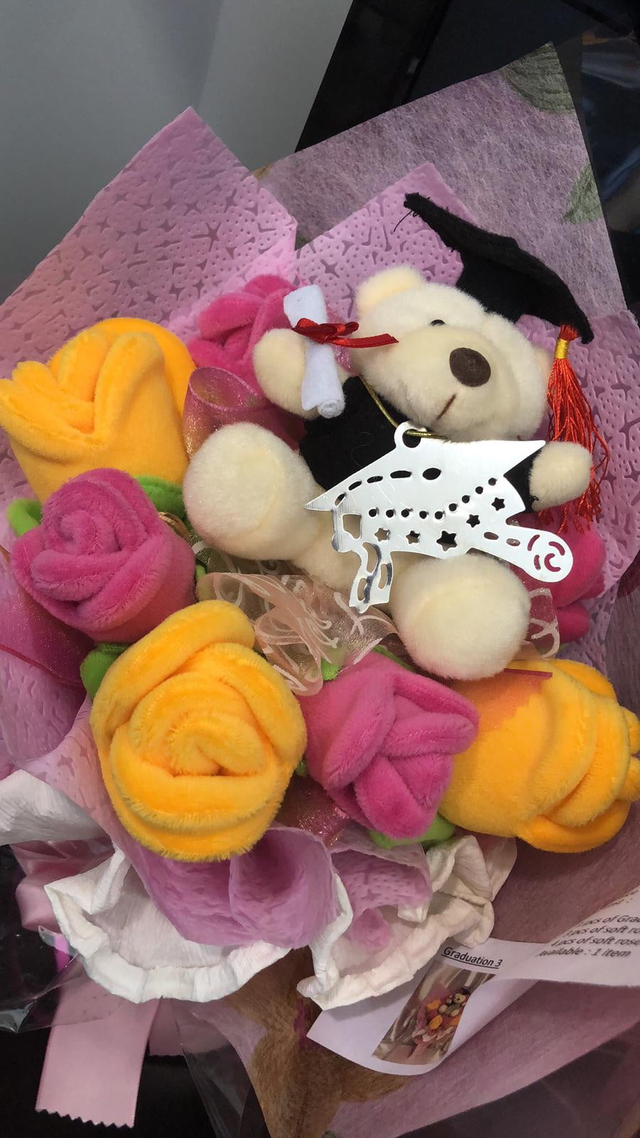 Graduation Bouquet with Teddy