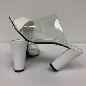 Celine - White Clear PVC Open Toe Sandals
