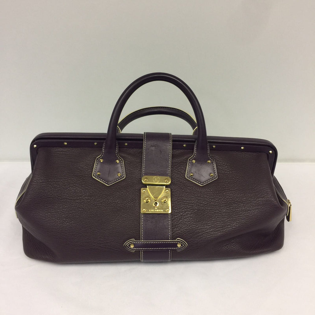 Louis Vuitton Purple Leather Handbag