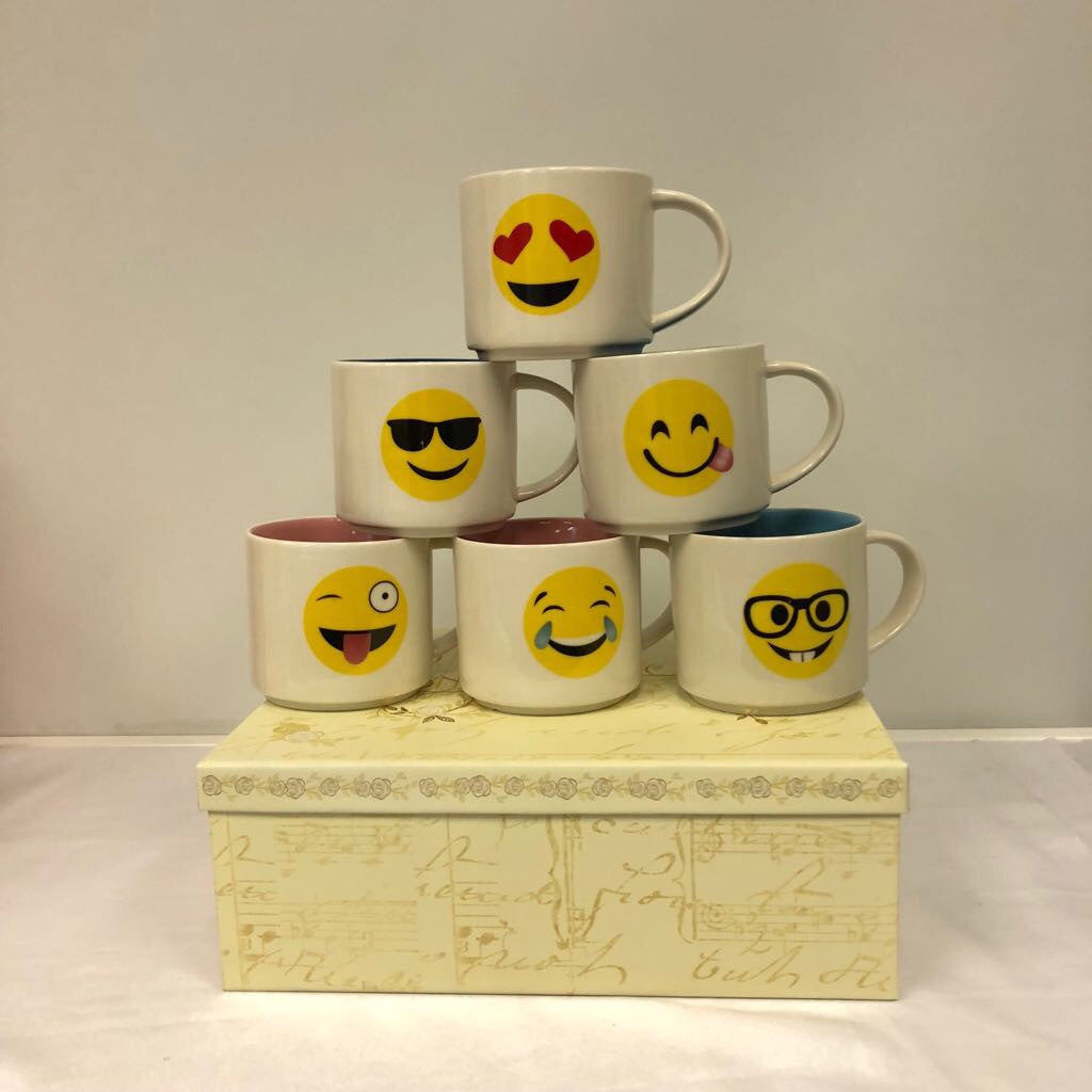 Emoji Cup Set of 6