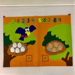 Children's Felt Bird Learn to Count Set