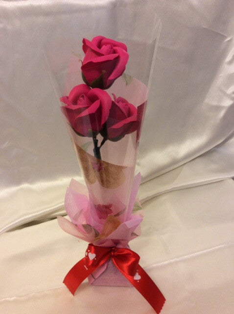 Pink Rose Soap Flower
