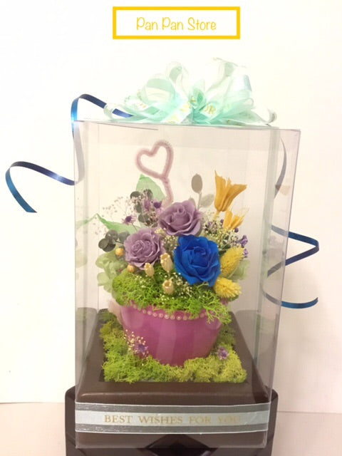 Elegant Preserved Flower with Wooden Box