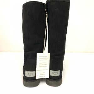 UGG Abree li Nero Black Suede Shearling Zip Tall Boots
