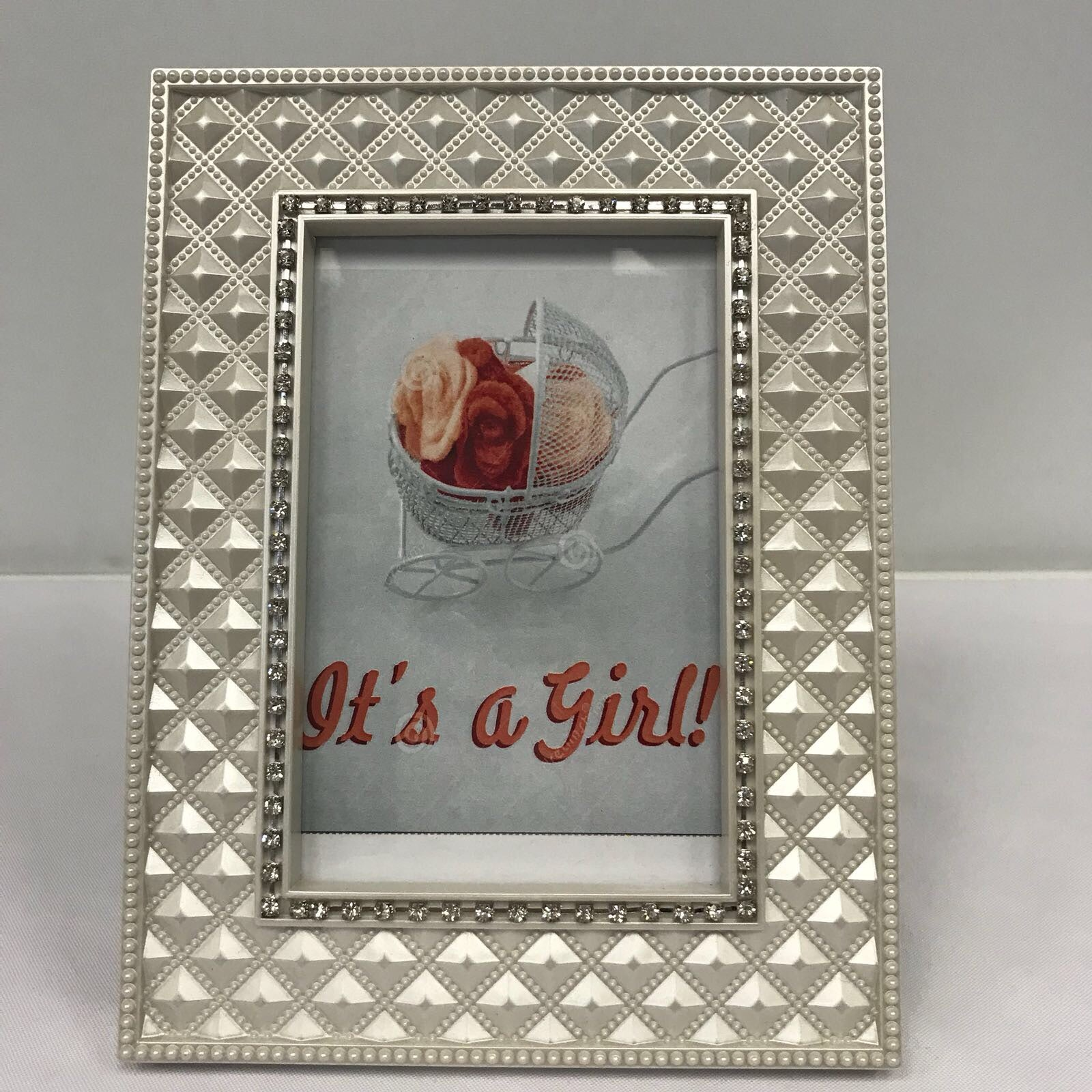 DIY Baby Girl Photo Frame