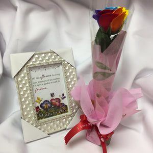 Soap Rose and Mother's Day Photo Frame 4x6 Gift Combo