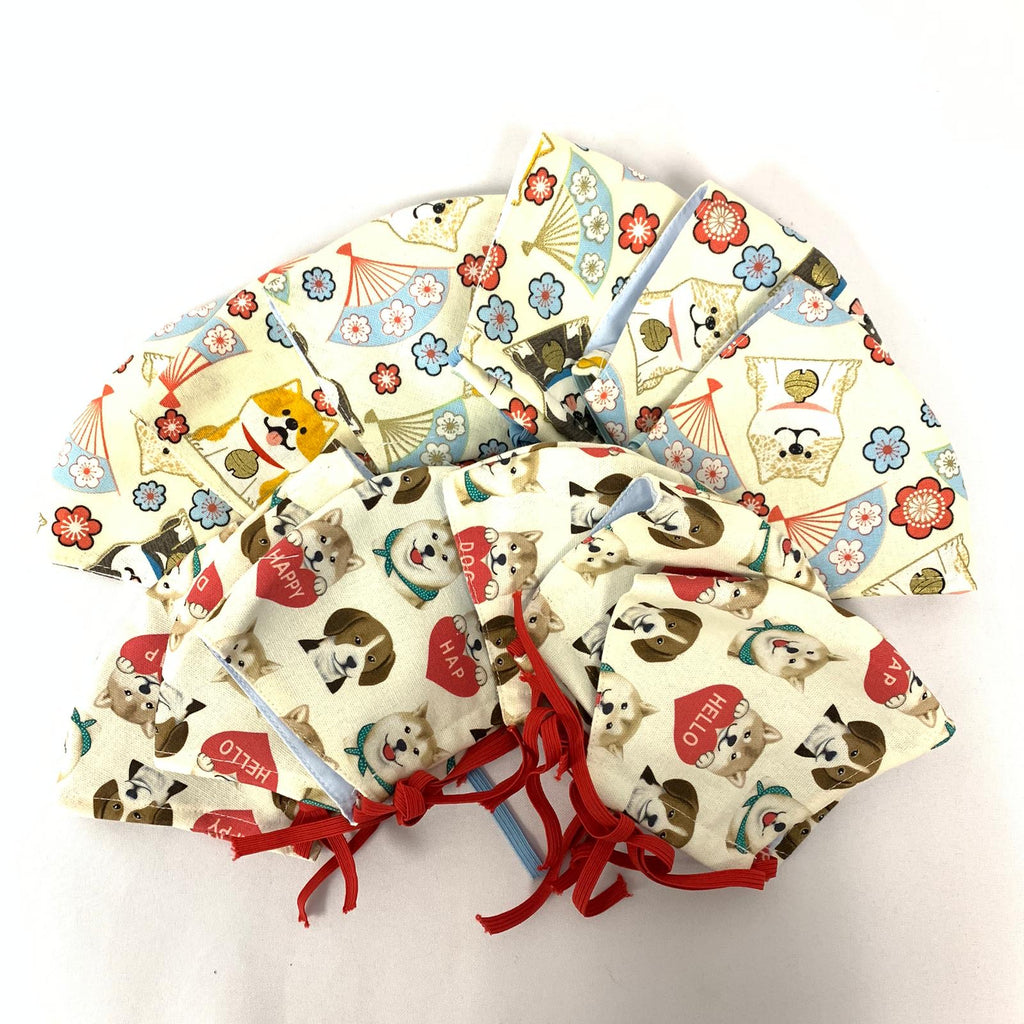 Puppy Print Cloth Masks