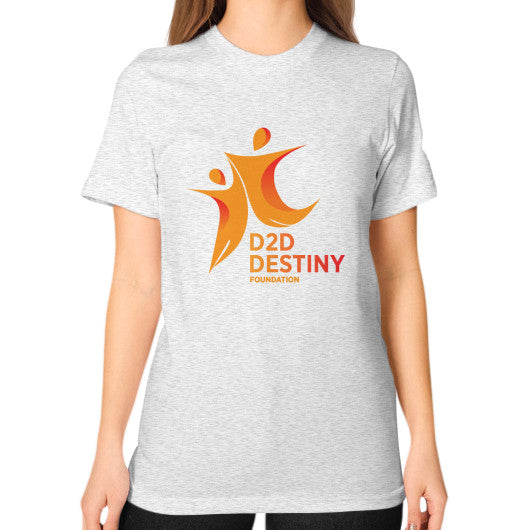 Unisex T-Shirt (on woman) Ash grey - d2ddestiny
