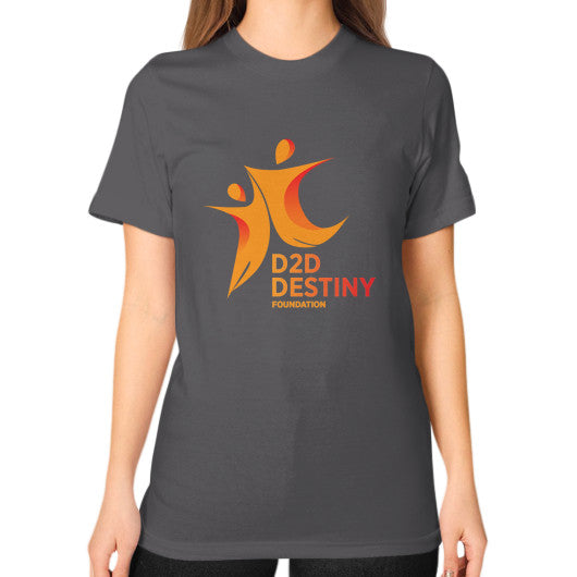 Unisex T-Shirt (on woman) Asphalt - d2ddestiny