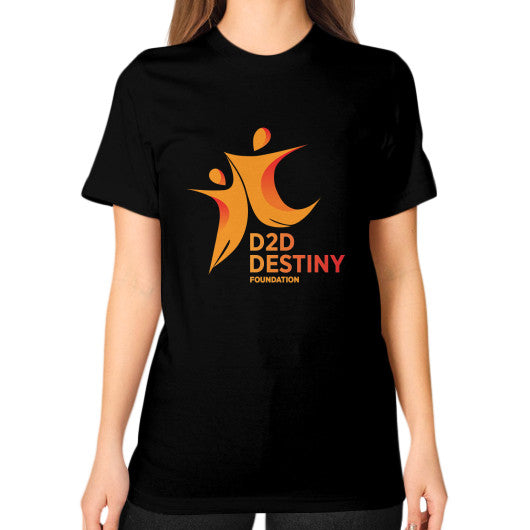 Unisex T-Shirt (on woman) Black - d2ddestiny